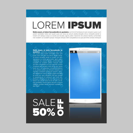 advertisment: Mobile phone electronic banner template with sample text