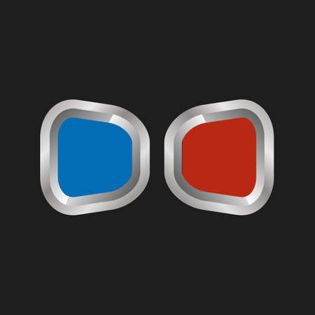 stereoscope: illustration of 3d anaglyph glasses on a black background