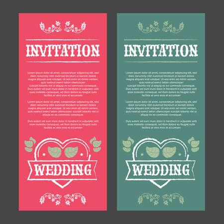 vintage: Vintage wedding invitation Illustration
