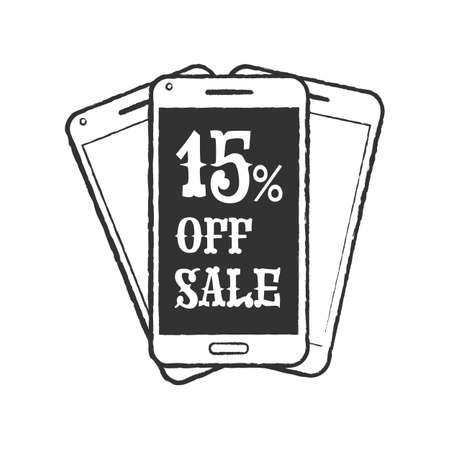 phone icon: Mobile phone sale icon Illustration
