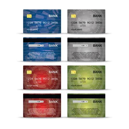 debet: Credit or debet cards design set Illustration