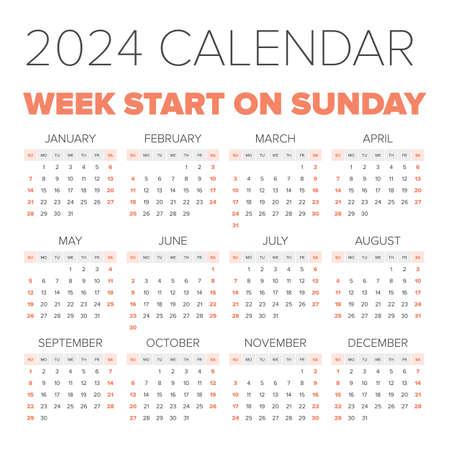 2024 Calendar - Blank Printable Calendar Template in PDF Word Excel