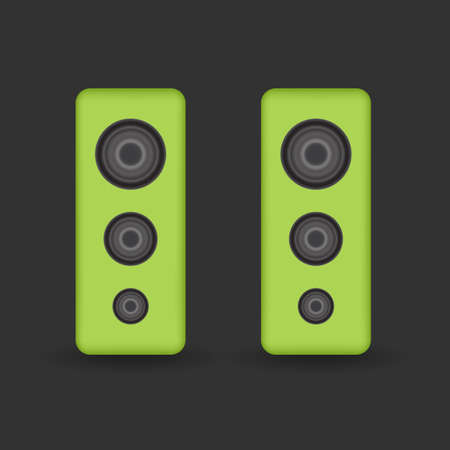 congress center: Green music Speakers Illustration