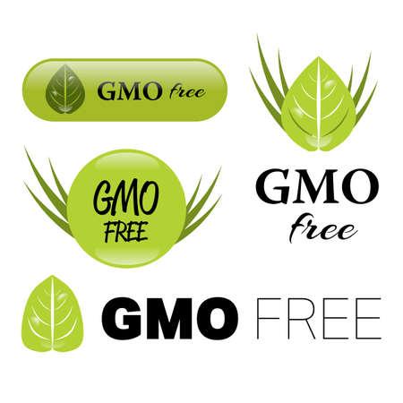 gmo: gmo free sign Illustration