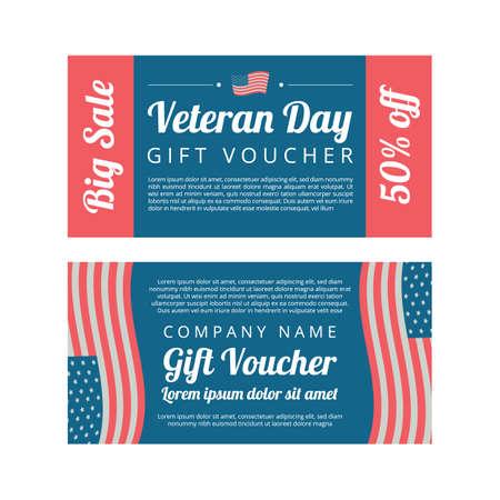 Veterans day Gift voucher Çizim
