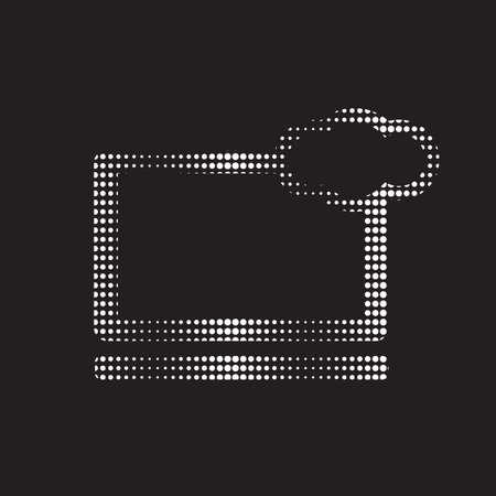 Pixelated vector icon of the computer cloud Ilustração