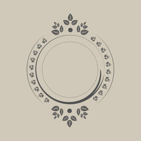 Vintage vector vignette on beige background Banque d'images - 96694455