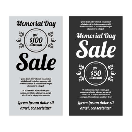 Memorial day sale banners set