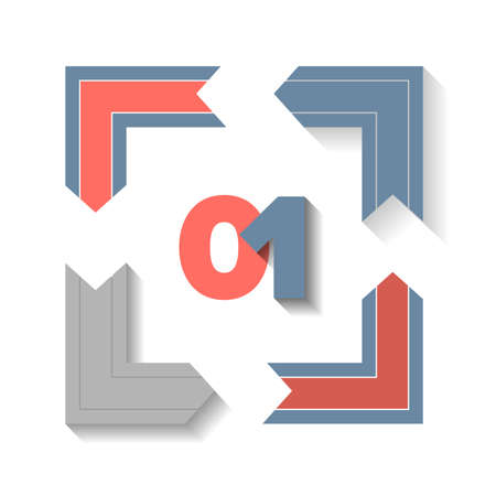 Square infographic element with sample digits Illustration