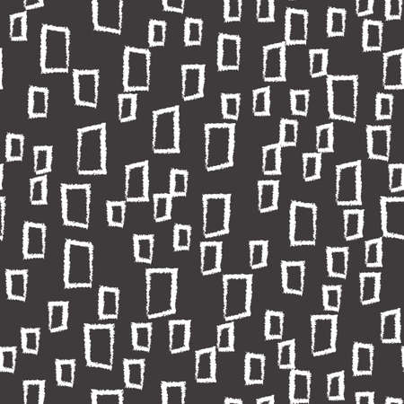 Abstract squares vector seamless pattern on the black background