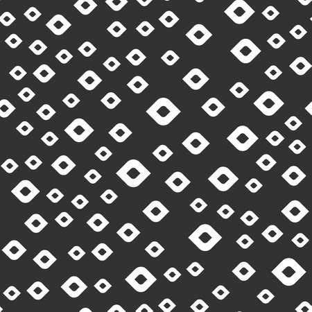Abstract rhombus vector seamless pattern on the black background