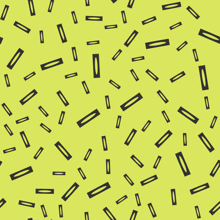 Abstract shapes vector seamless pattern on the yellow background