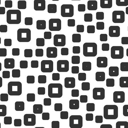 Abstract squares vector seamless pattern on the white background