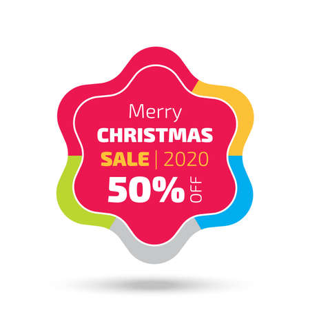 2020 Christmas sale banner with the star shape and shadow