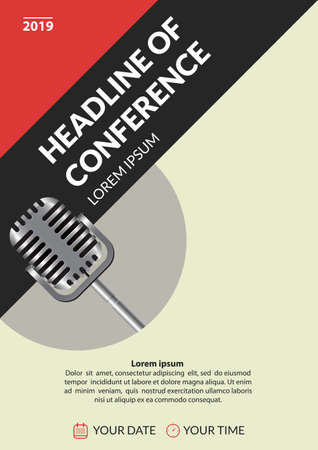 Business conference invitation concept. Illustration