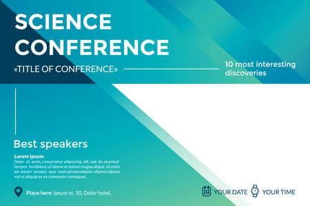 Concepto de invitación de conferencia de ciencia. Foto de archivo - 85585446