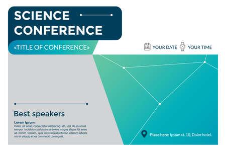 science conference invitation concept stock vector 85585448