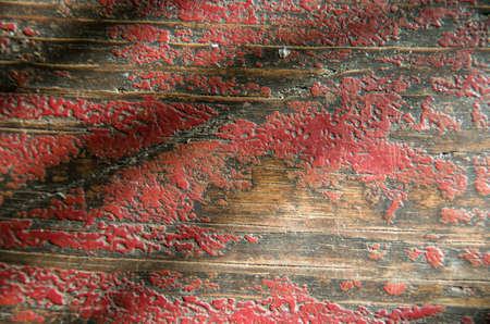 barnwood: Red rustic reclaimed wooden wall background. close-up