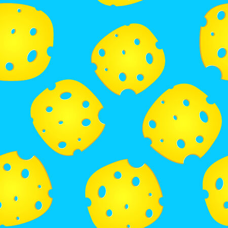 Plates of cheese over blue background