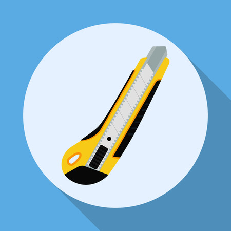 craft product: Cutter knife flat style icon with shadow