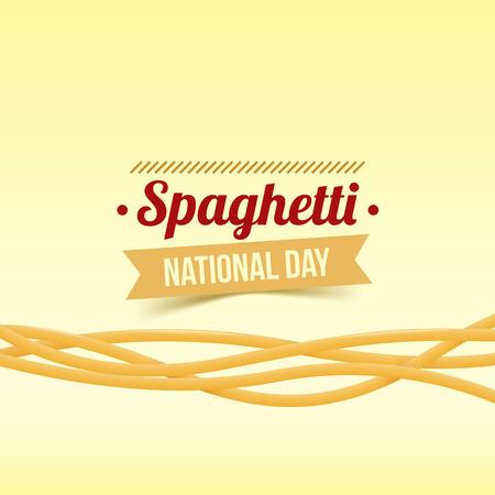 National Spaghetti Day vector illustration. Realistic twisted spaghetti. Illusztráció