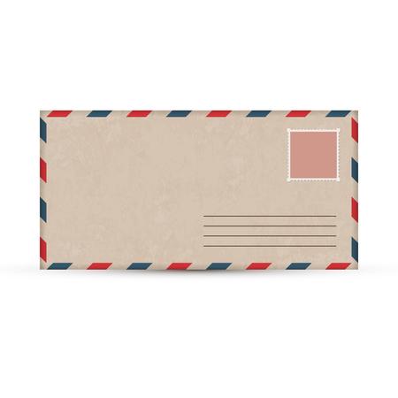 vintage postcard: Old paper envelope. Vector illustration. Vintage postcard.