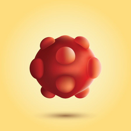 microbio: Bacterias 3d abstractos. Ilustraci�n aislada de microbio. Virus. concept.Bacteria m�dica y cient�fica esferas 3d ilustraci�n.