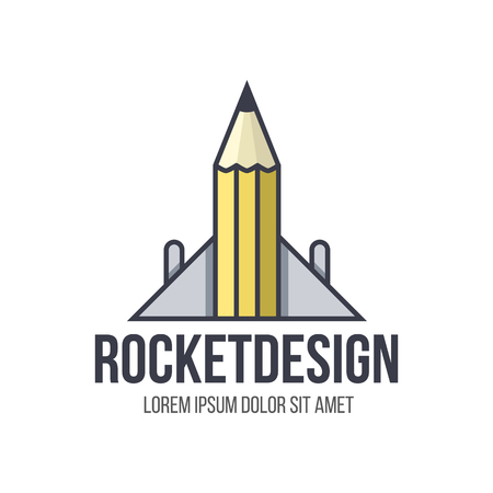 rocker: Rocker design logo. Concept of design, art, engineering and architecture Illustration