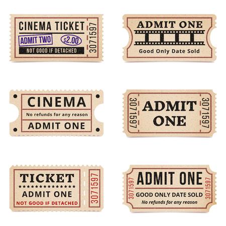 Biglietti e coupon vintage Archivio Fotografico - 90154525