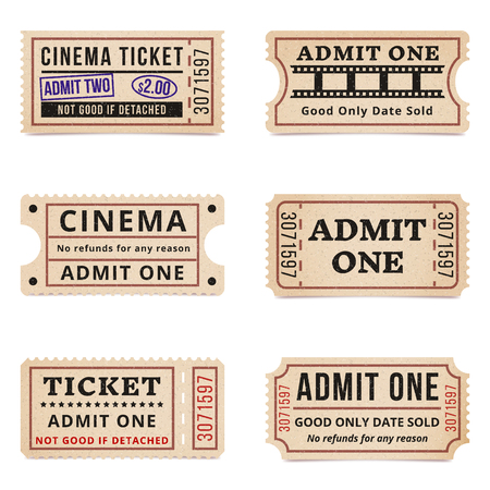 Vintage tickets and coupons