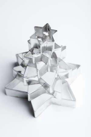 Tanne aus einem metallischen Gurren Formen. Standard-Bild - 10962280
