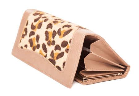 Damen-Geldbörse isoliert auf weiß Standard-Bild - 12849610