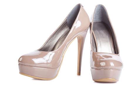 high heels on white background
