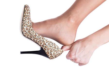 Cinderellas Schuh Konzept isoliert auf weiß Standard-Bild - 13378580