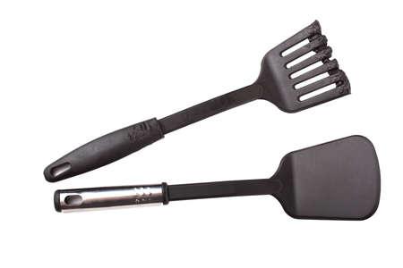 Neu und beschädigte Kunststoff Küchengerät. Isoliert auf weißem Hintergrund Standard-Bild - 13378499