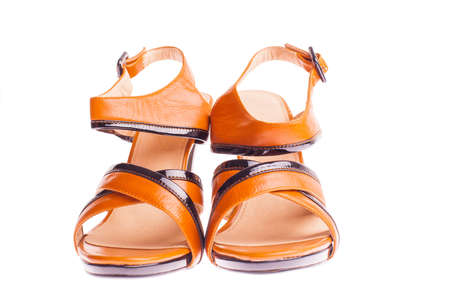 stylish woman's opened shoe isolated Stock Photo - 13929299