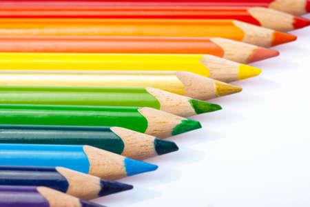 color pencil: Colorful pencils closeup macro shot Stock Photo