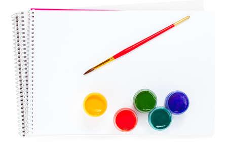 Paint set isolated on white photo