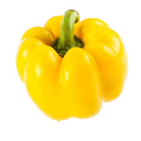 Sweet yellow bell pepper Paprika isolated on a white background