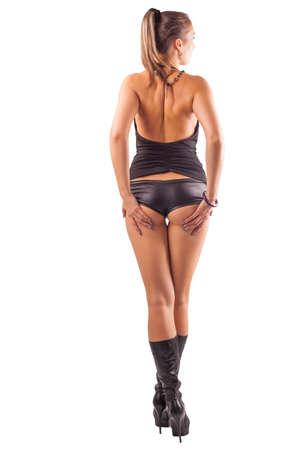 Frau mit sexy Arsch und lange Beine Standard-Bild