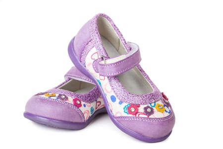 Schuhe für kleine Mädchen isoliert auf weißem Hintergrund Standard-Bild - 19166713