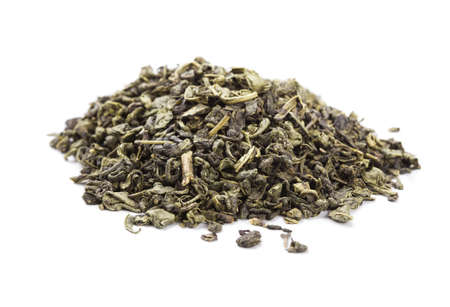 Heap of Green Tea Isolated On White