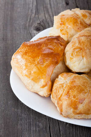 pasty: baked pasty on the plate