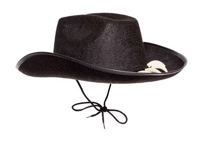 Black Adventure Hat with teeth isolated on white