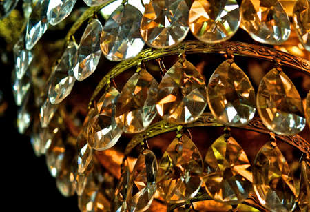 sconces: Crystal chandelier  Stock Photo