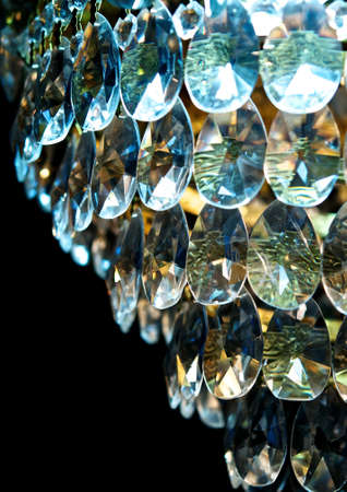 sconces: Gloss crystal  Stock Photo