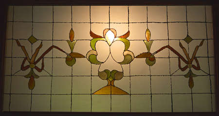Antique stained glass  photo