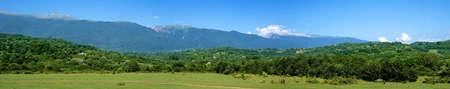 abkhazia: The mountains of Abkhazia  Panorama  Stock Photo