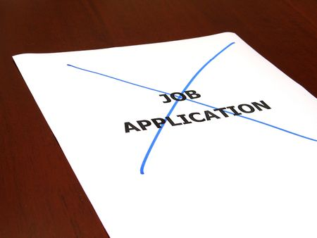 qualify: Rejected job application concept Stock Photo