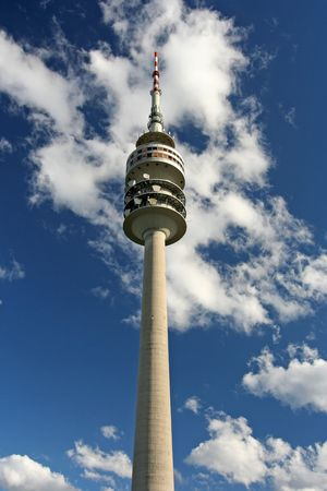 The big telecommunications tower of Munich, in Germany